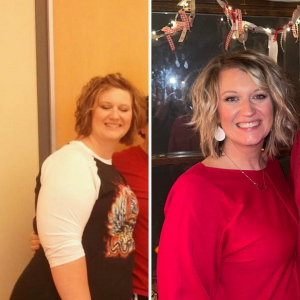 Sara from Keto On the Rise before a keto lifestyle and living a keto lifestyle for the gallery image for the Keto On the Rise Blog